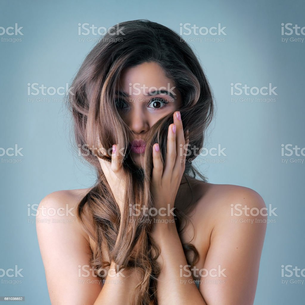 Great hair doesn't happen by chance... stock photo