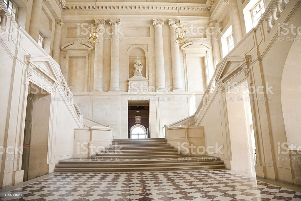 Great hall and staircase royalty-free stock photo
