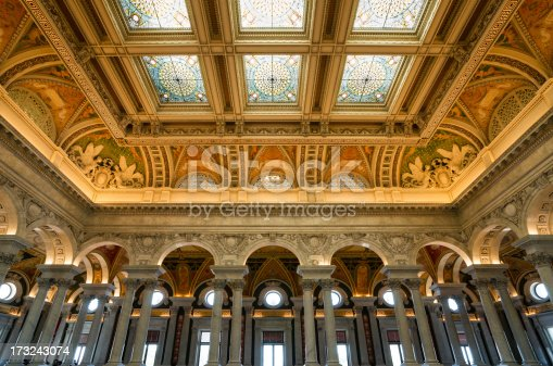 The Great Hall Library of Congress, Washington, D.C. USA.