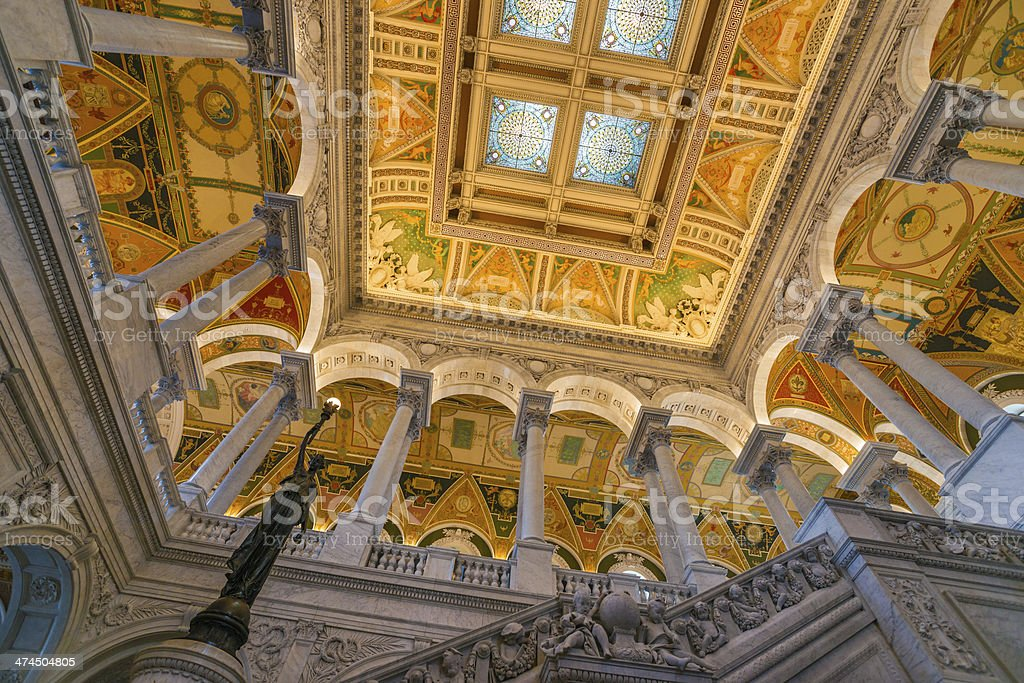 Great Hall Library of Congress, Washington, D.C. USA stock photo