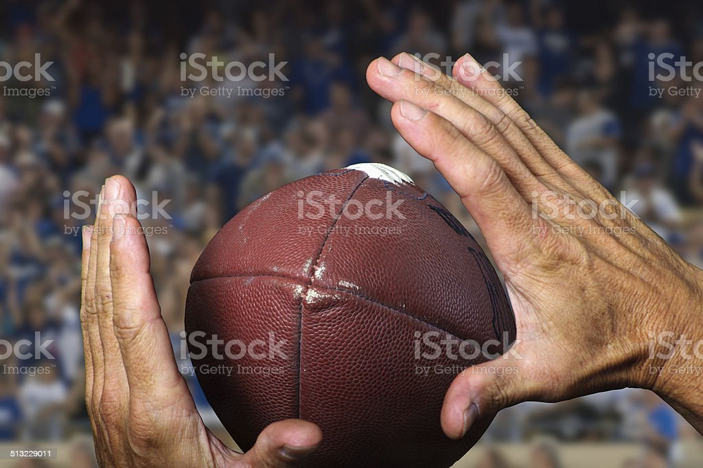Great hands for the catch stock photo