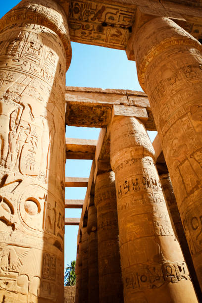Great Hypostyle Hall at Karnak Temple in Luxor, Egypt