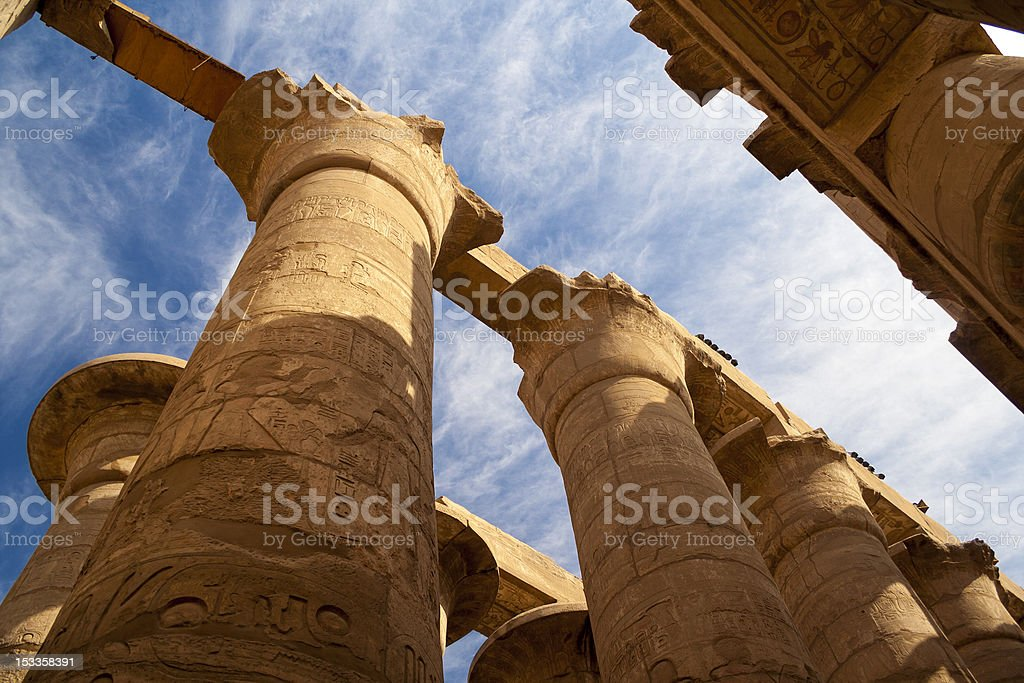 Great Hypostyle Hall at the Temples of Karnak stock photo