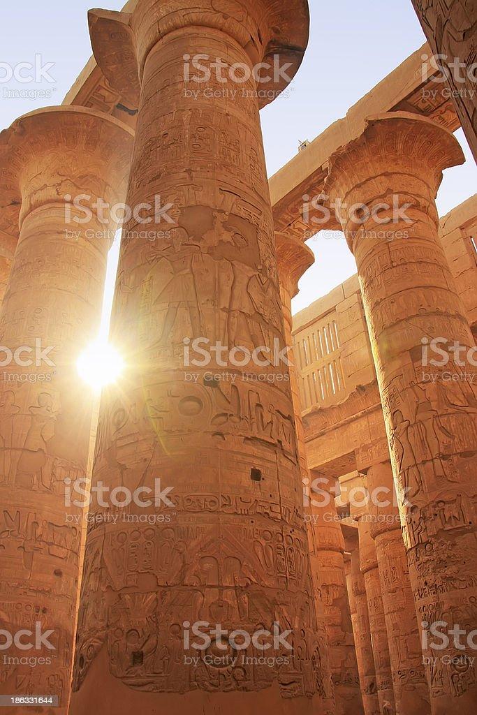 Great Hypostyle Hall, Karnak temple complex, Luxor stock photo