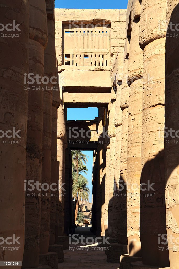 Great Hypostyle Hall, Karnak Temple, Luxor, Egypt. royalty-free stock photo