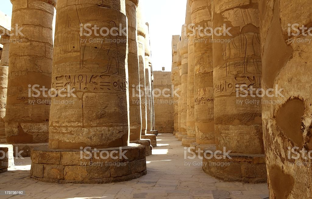 Great Hypostyle Hall of the Karnak Temple, Luxor, Egypt. royalty-free stock photo