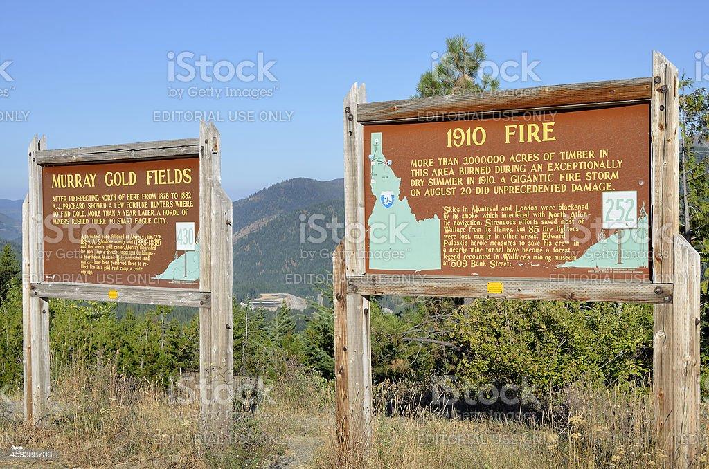 Great Idaho Fire of 1910 royalty-free stock photo