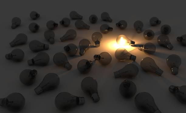 Great idea lightbulb stock photo