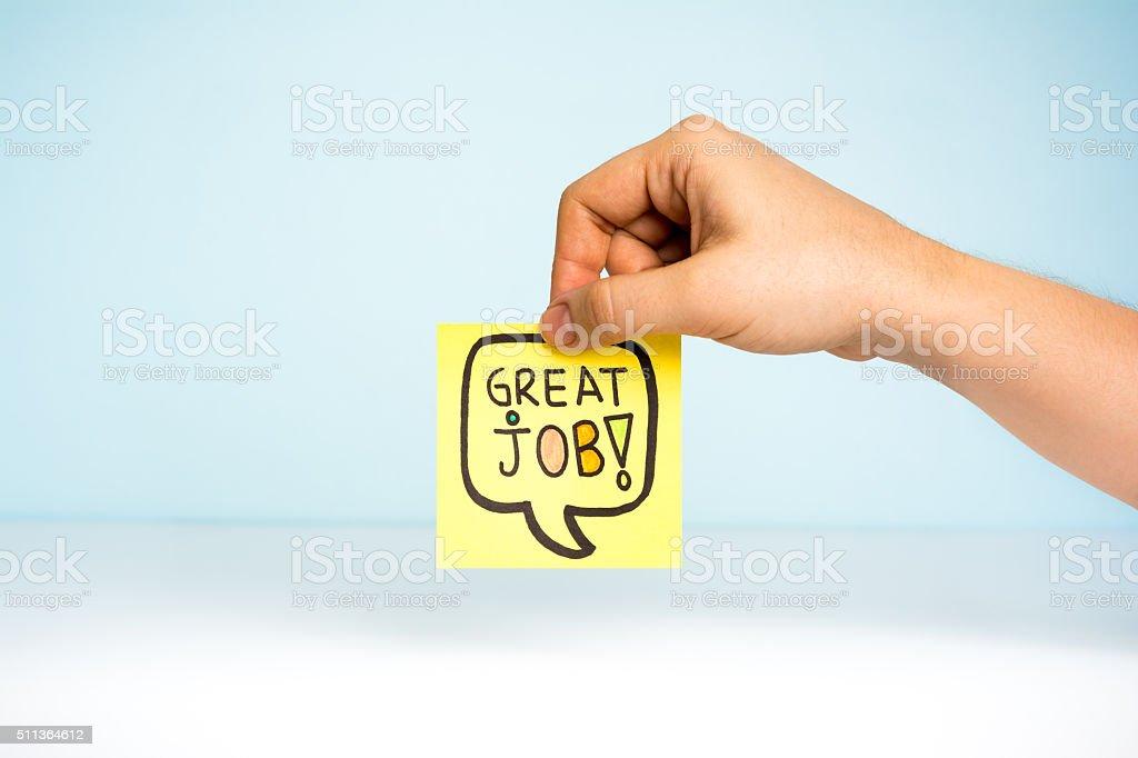 Great job congratulation concept stock photo