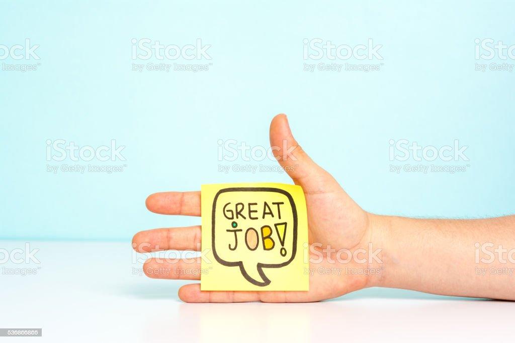 Great job congratulation stock photo