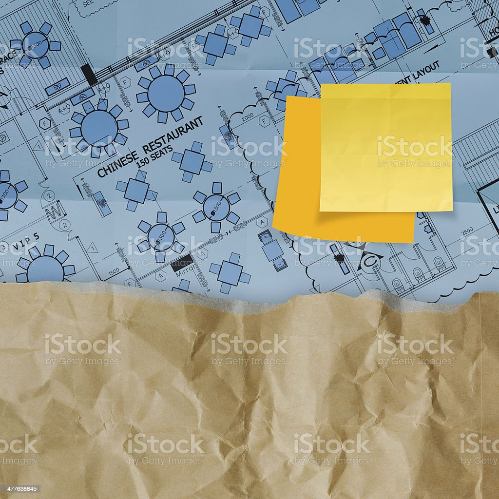 great job word with sticky note on construction site royalty-free stock photo