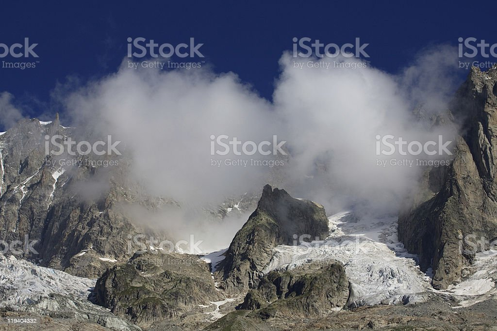 Grandes Jorasses royalty-free stock photo