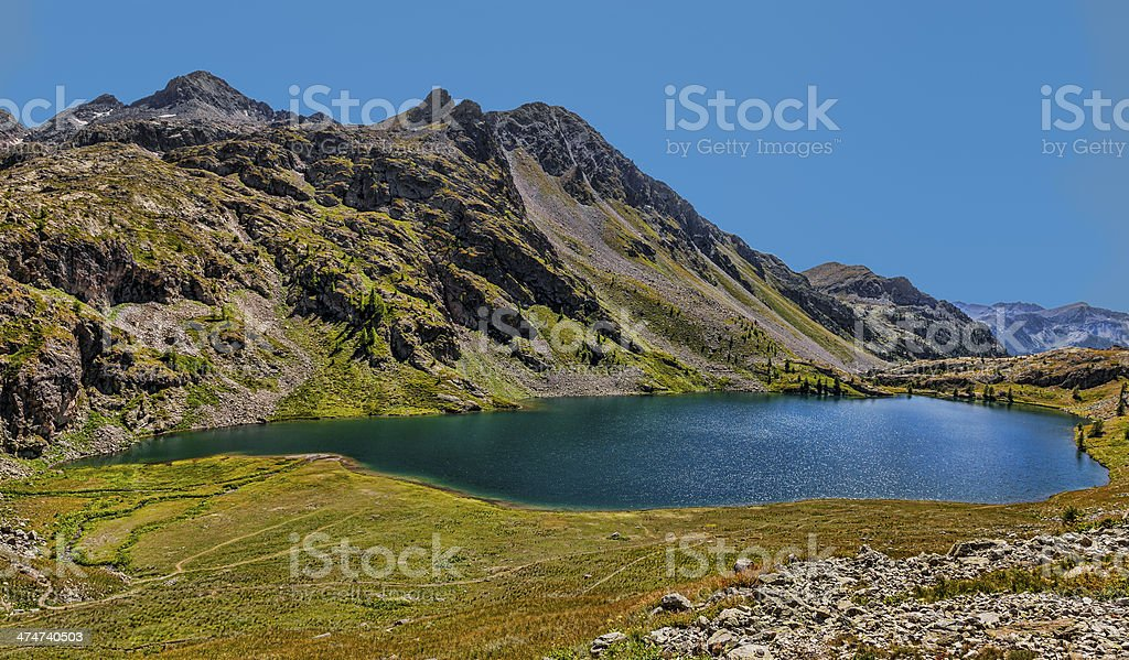 Grand Lac from Lacs de Vens stock photo