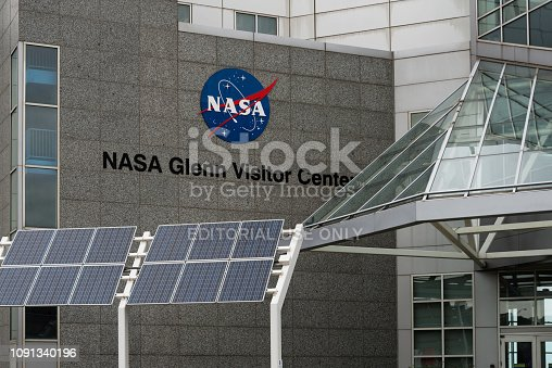 The NASA Glenn Visitor Center, part of the Great Lakes Science Center located in downtown Cleveland, Ohio.