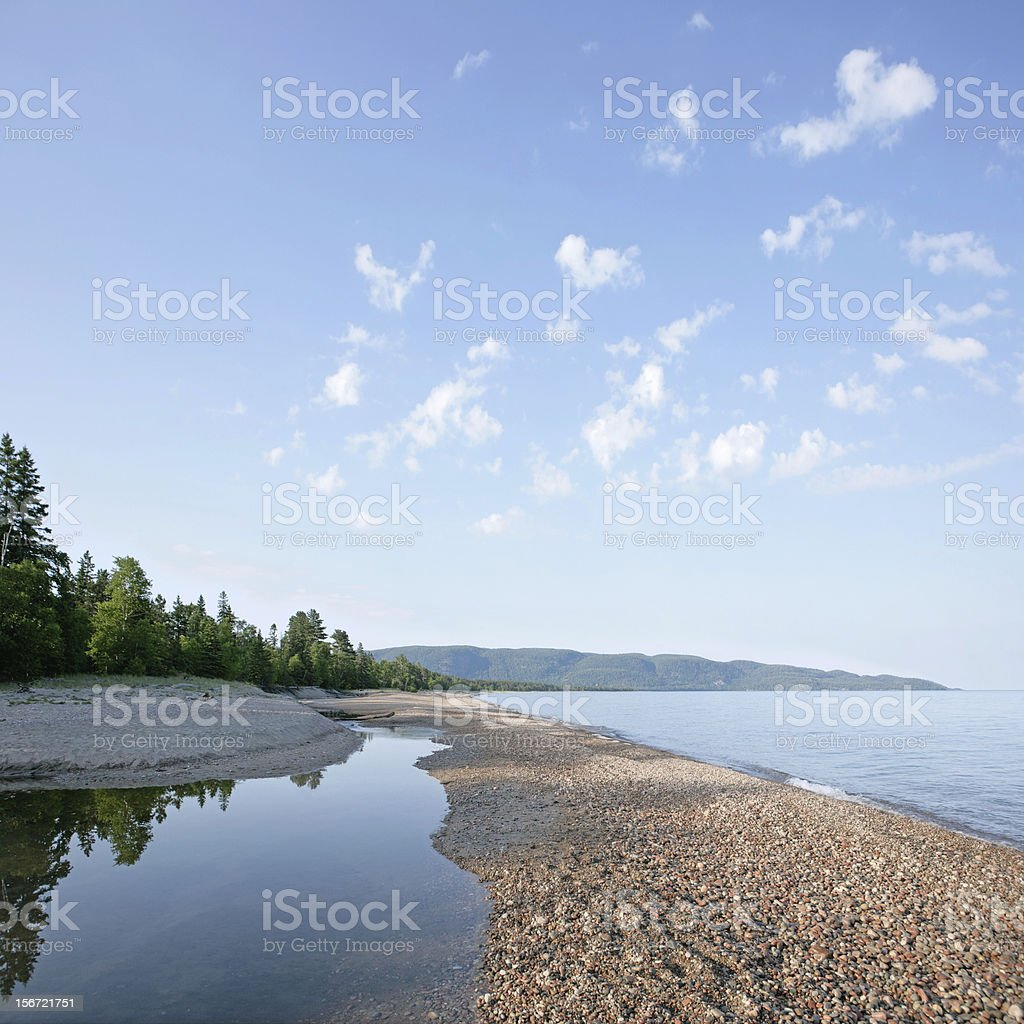 XXL great lakes shoreline royalty-free stock photo