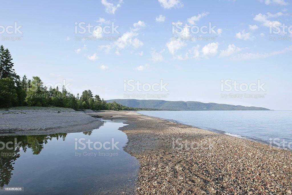 XL great lakes shoreline stock photo