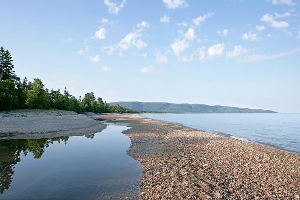 xl great lakes küste - lake michigan strände stock-fotos und bilder