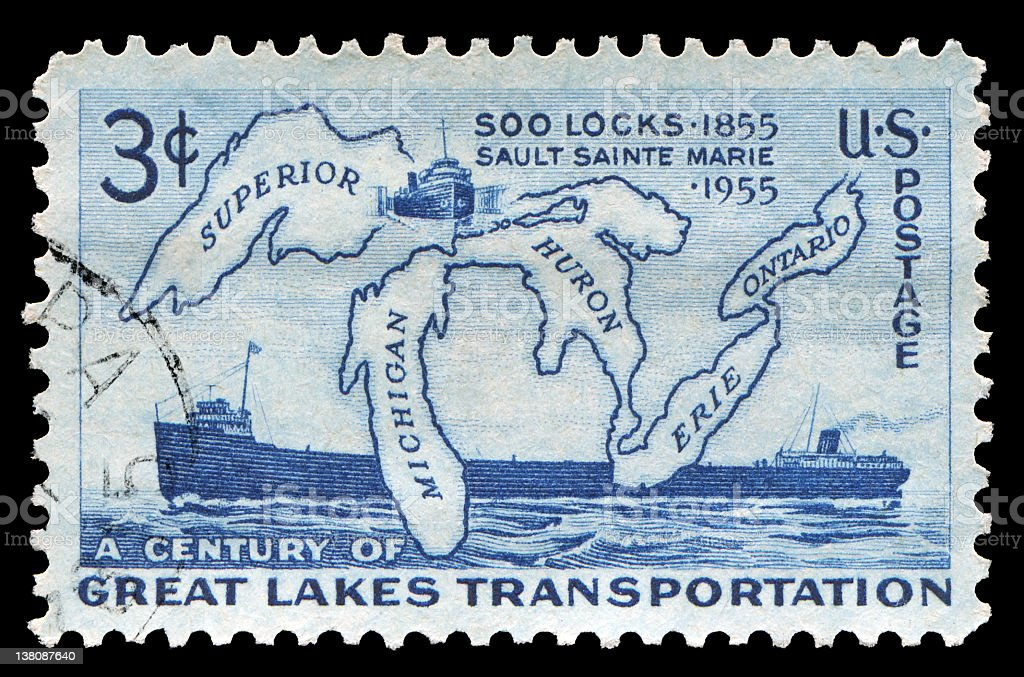 great lakes stamp royalty-free stock photo