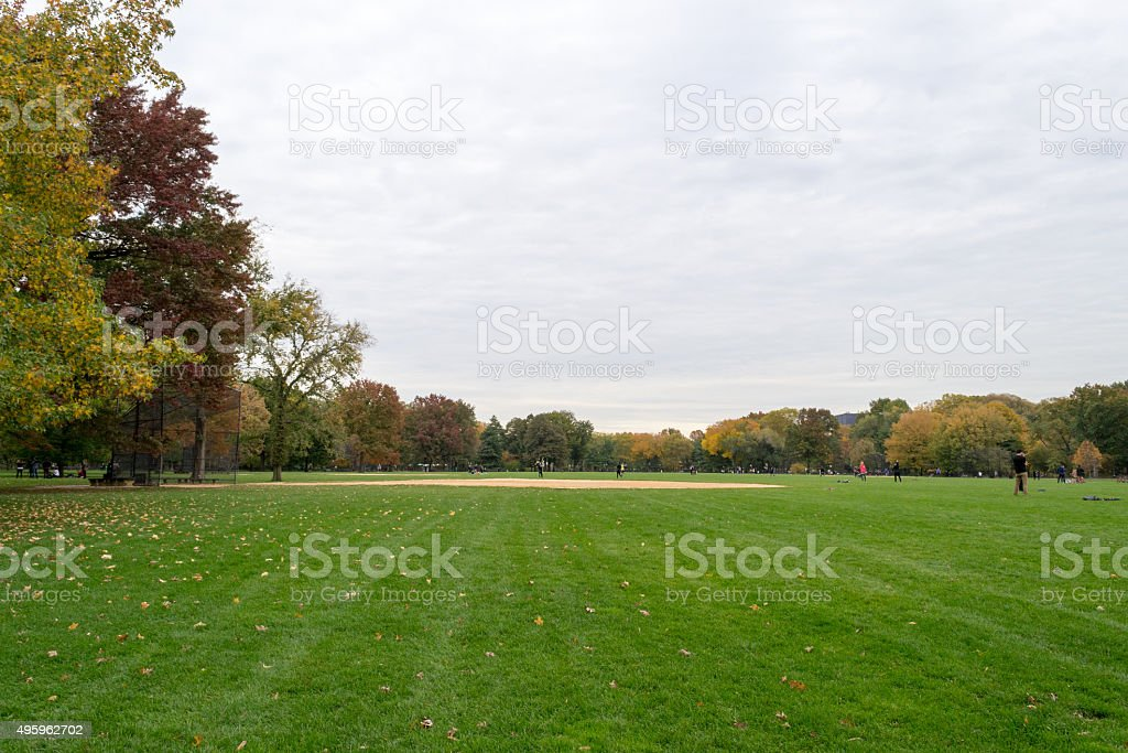 Great lawn stock photo