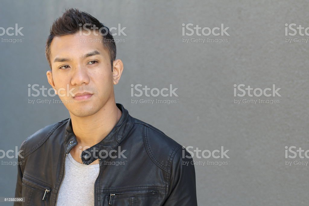 Great looking tough asian guy royalty-free stock photo