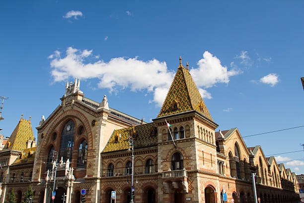 Great Market Hall The Great Market Hall in Budapest, Hungary market hall stock pictures, royalty-free photos & images