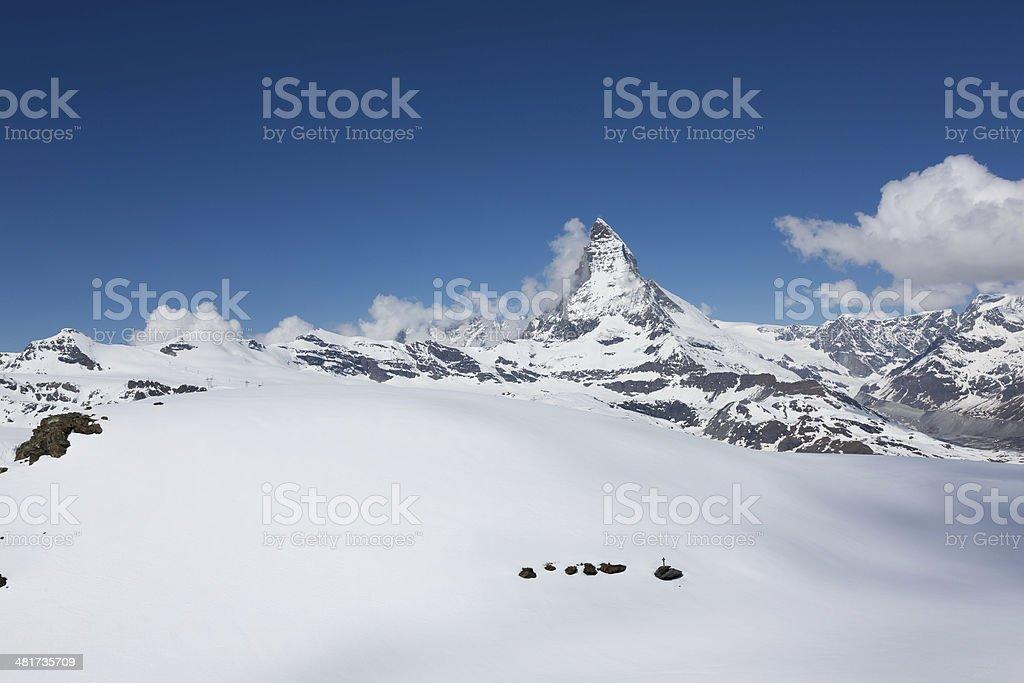 Great Matterhorn Zermatt, Switzerland stock photo