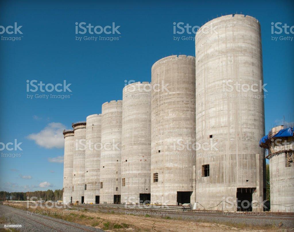 great monolit buildig stock photo