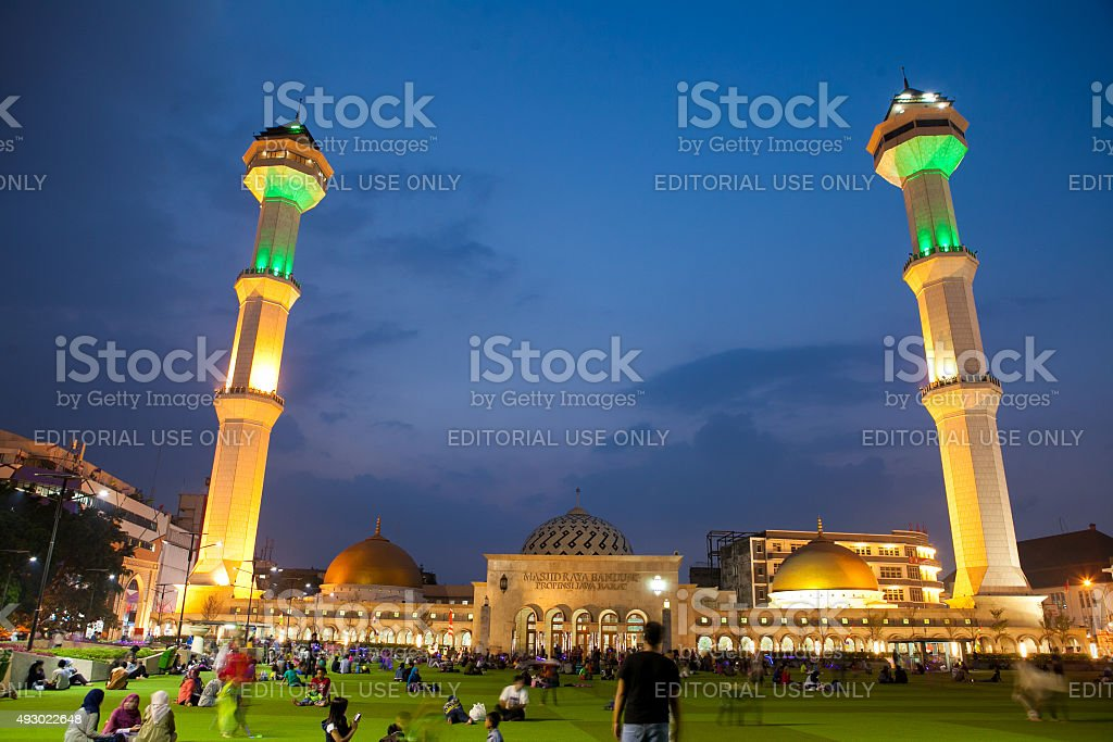 Great Mosque in Bandung city west java Indonesia stock photo