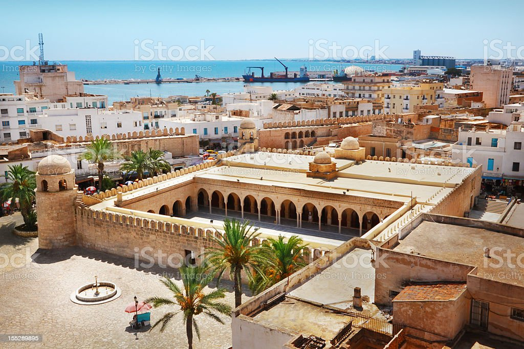 Great Mosque in Sousse stock photo