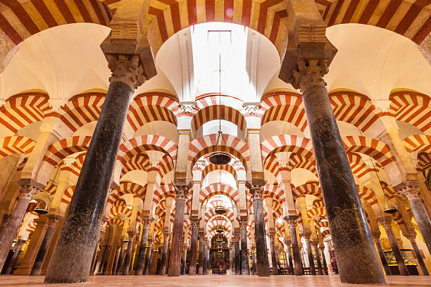 Great Mosque of Córdoba Interior of The Cathedral and former Great Mosque of Cordoba. cordoba spain stock pictures, royalty-free photos & images