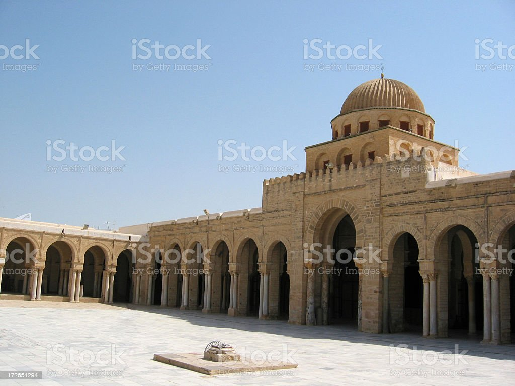 Great Mosque of Kairouan - Dome royalty-free stock photo