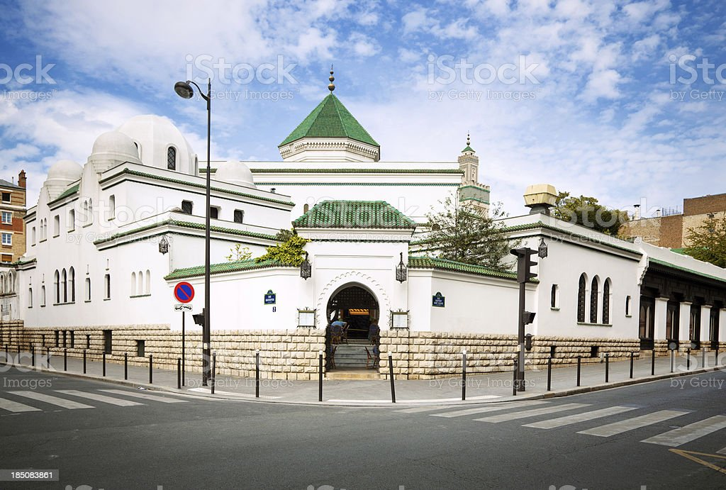Great Mosque of Paris royalty-free stock photo