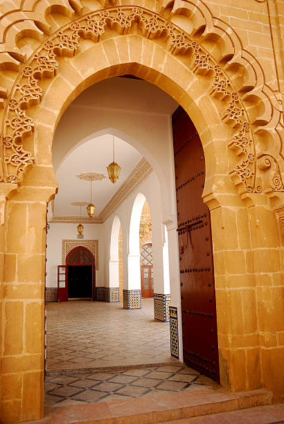 Great Mosque, Sale, Morocco The entrance of the Great Mosque in Sal salé morocco stock pictures, royalty-free photos & images