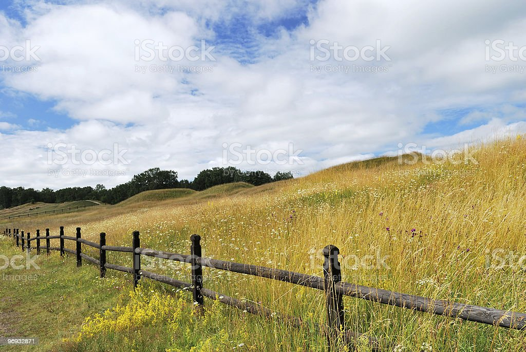 Great mounds of Old Uppsala, 4-7 cc. Sweden royalty-free stock photo