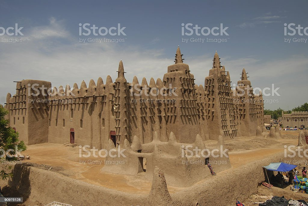 Great mud mosque in Djenne stock photo