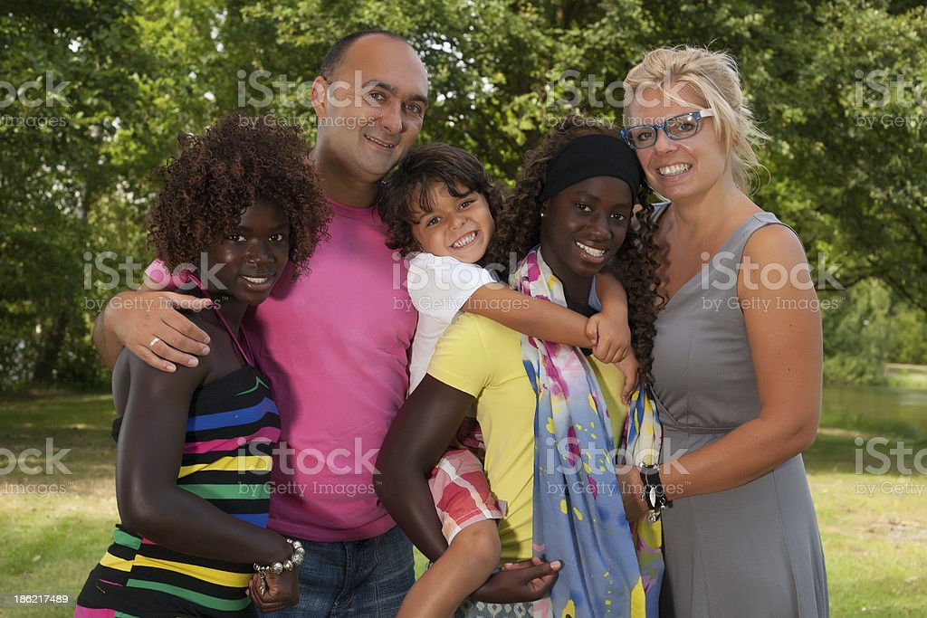 Great multi happy family stock photo