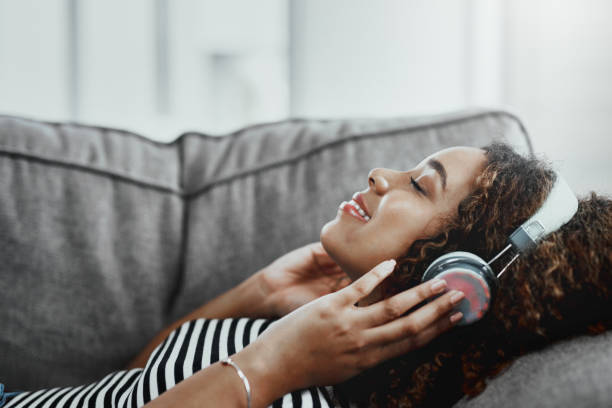 Gran música hace que sea un gran día - foto de stock