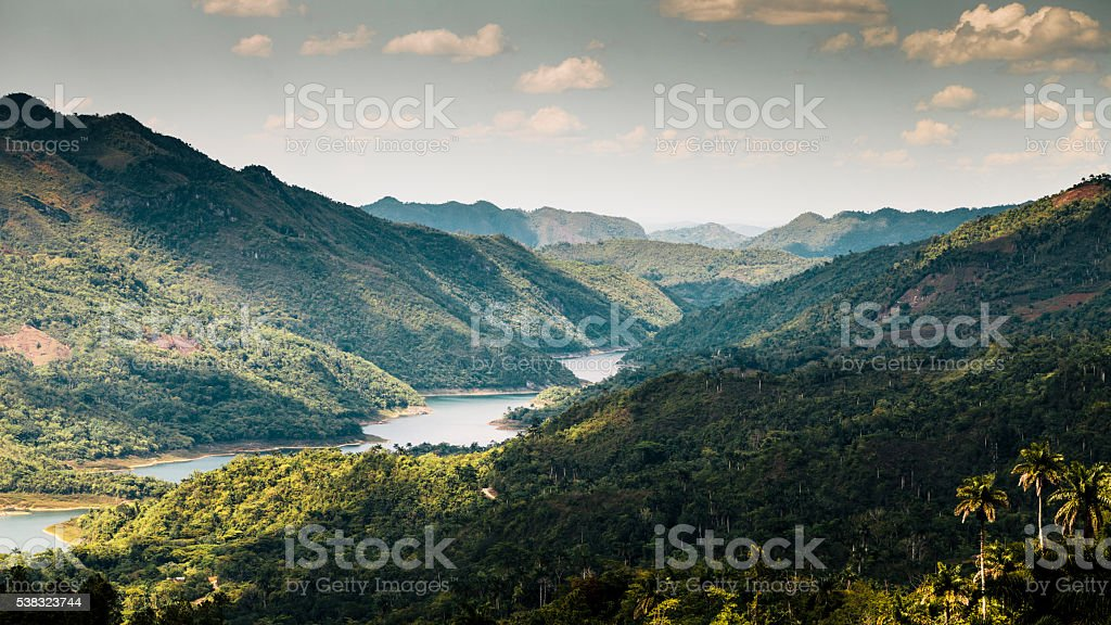 Gran Parque Natural Topes De Collantes, Cuba stock photo