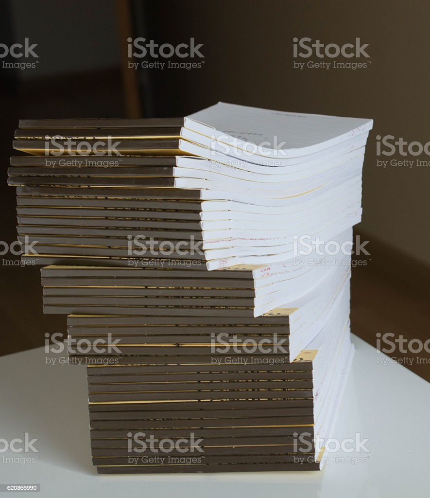 Great number of  empty notebooks foto de stock royalty-free