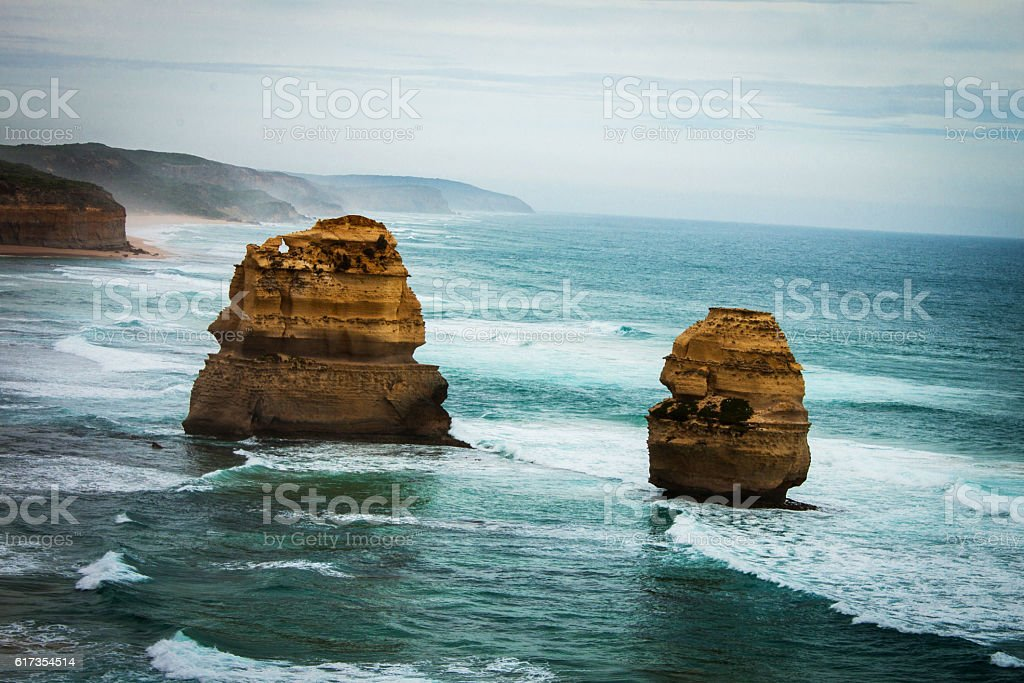 Great ocean road 12 apostles Australia stock photo