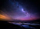 istock Great Ocean Road at night milky way view 498309616