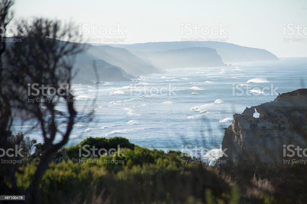 Great Ocean Road coastline. stock photo