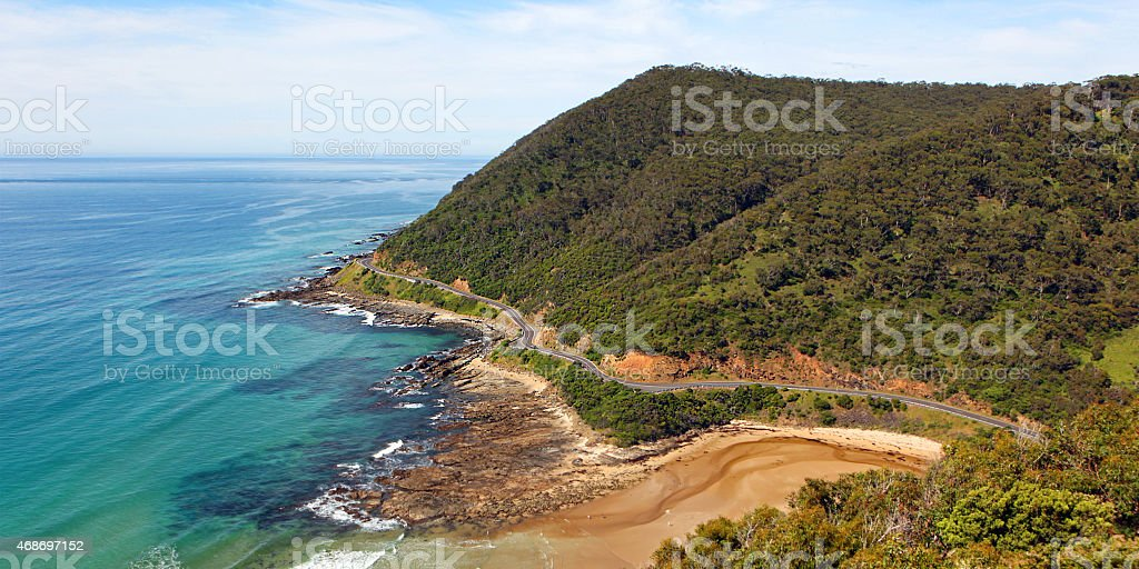 Great Ocean Road View from Teddy's Lookout Lorne Australia stock photo