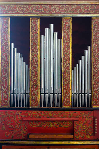 Great Organ in the Old Church stock photo