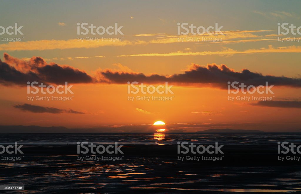 Great Orme Sunset stock photo