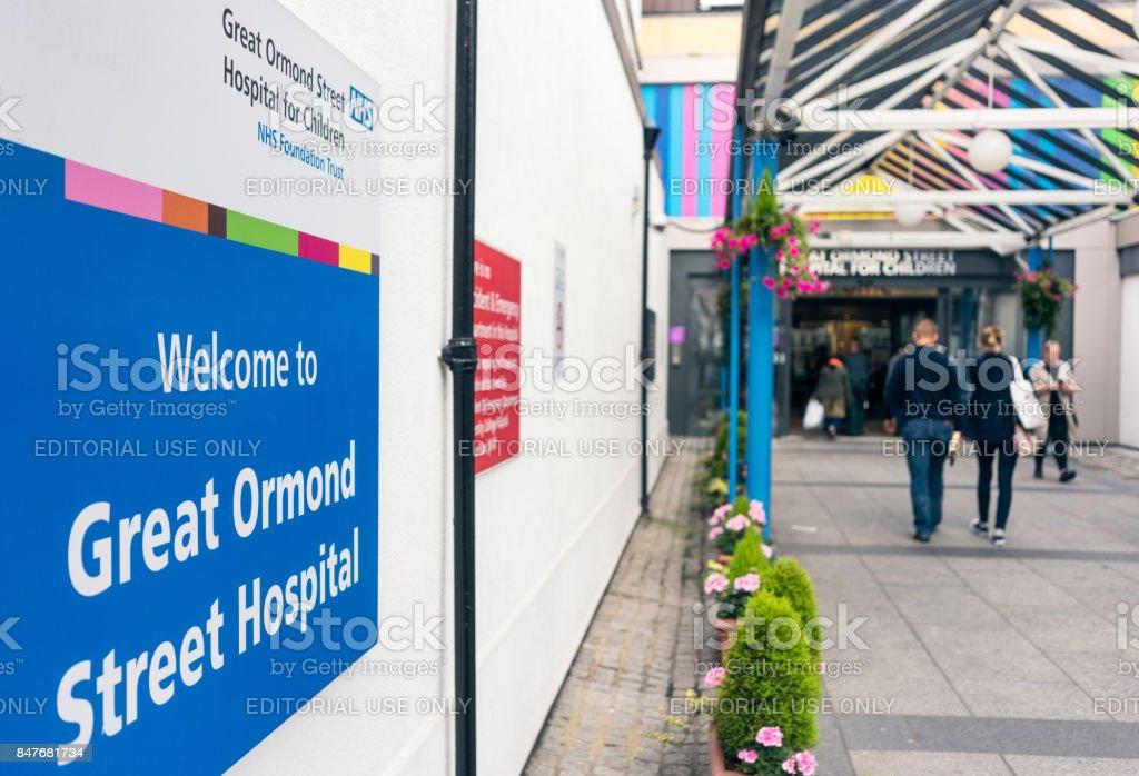 Great Ormond Street Hopital for Children entrance stock photo