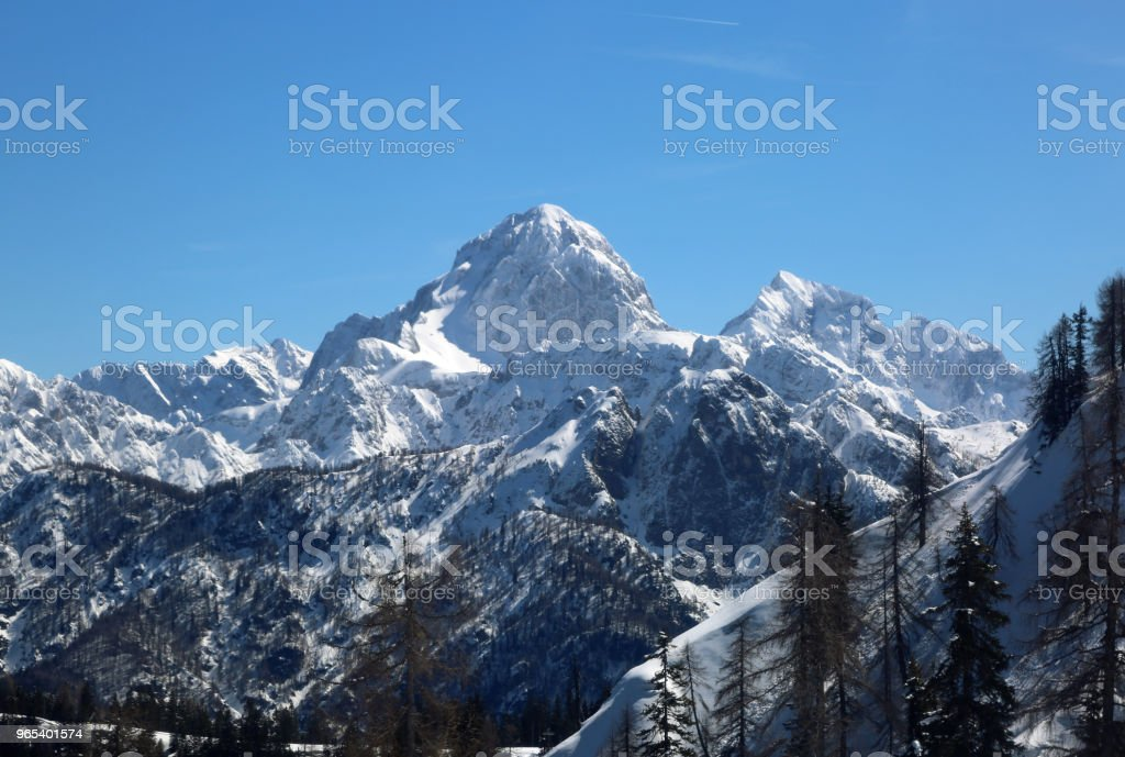 great panormaric view of moutains with snow royalty-free stock photo