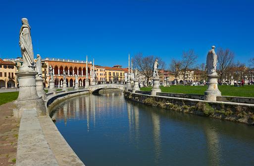 Great piazza of Prato della Valle in Padua, Italy
