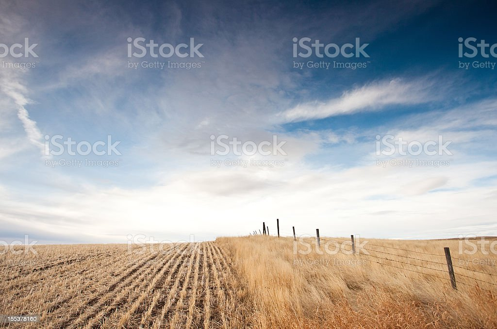Great Plains in Alberta Canada royalty-free stock photo