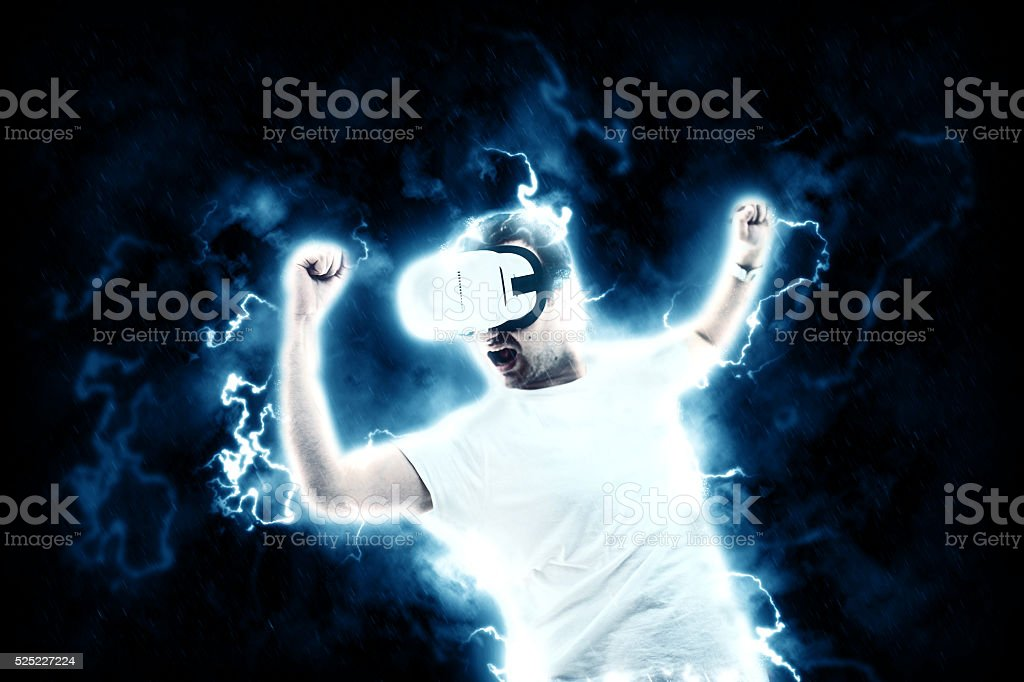 Great power of virtual world stock photo